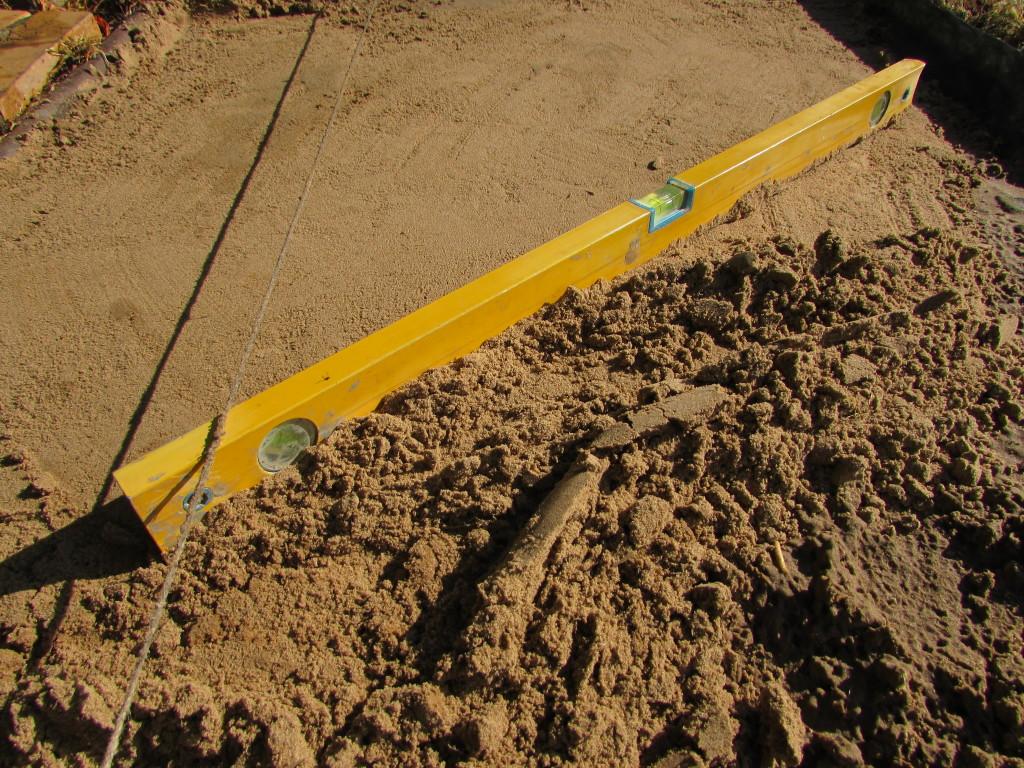 Снятие лишнего песка