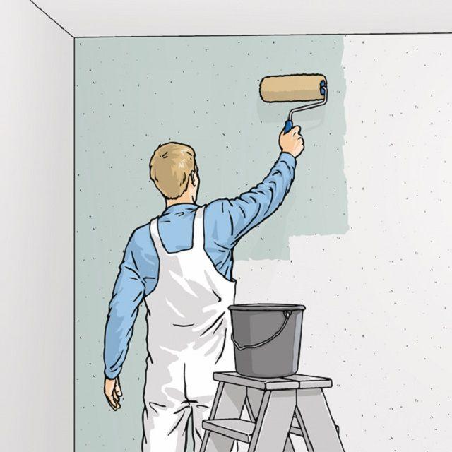 Нанесение обойного клея на стену