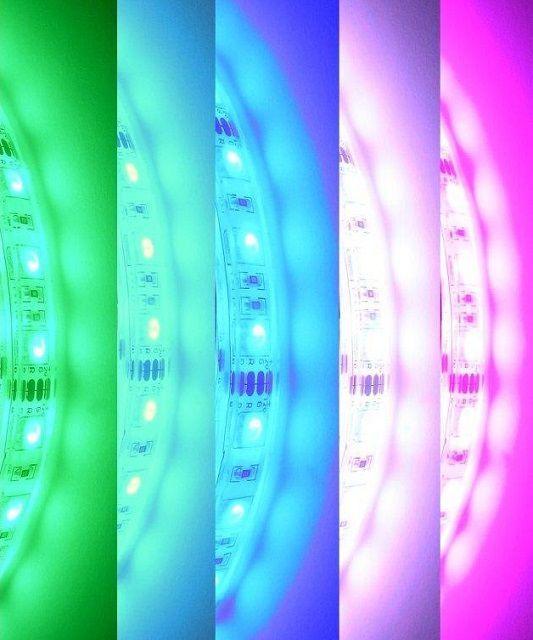 Пример некоторых оттенков, которые можно получить при смешивании трех цветов.