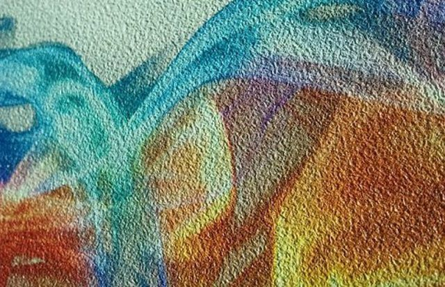 """""""Песчаная"""" фактура поверхности фотообоев хорошо маскирует небольшие неровности стены"""
