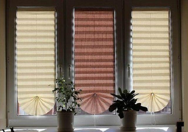 Очень оригинально будут смотреться на окнах самостоятельно изготовленные жалюзи-плиссе