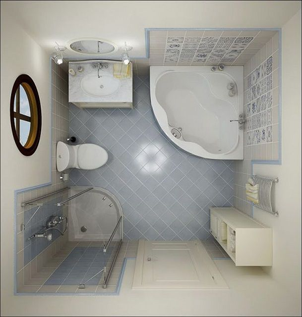 Проект будущей ванной комнаты следует составлять очень тщательно, с точным соблюдением масштаба