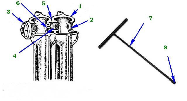 Принципиальная схема  соединительного узла радиатора МС-140