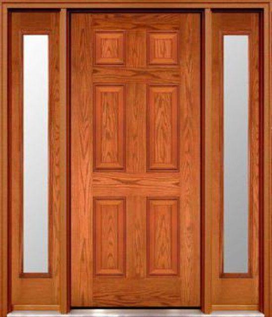 Филенчатая дверь, полностью изготовленная из массива