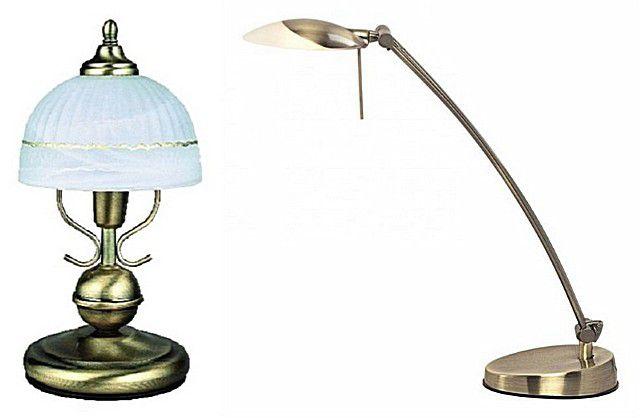 Нечасто, но все используются и настольные светильники - для туалетного столика около раковины