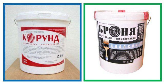 Пример имеющейся в продаже термоизоляционной краски