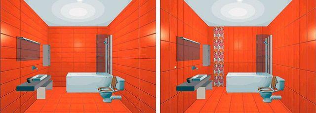Приёмы использования плитки для визуального изменения пространства ванной