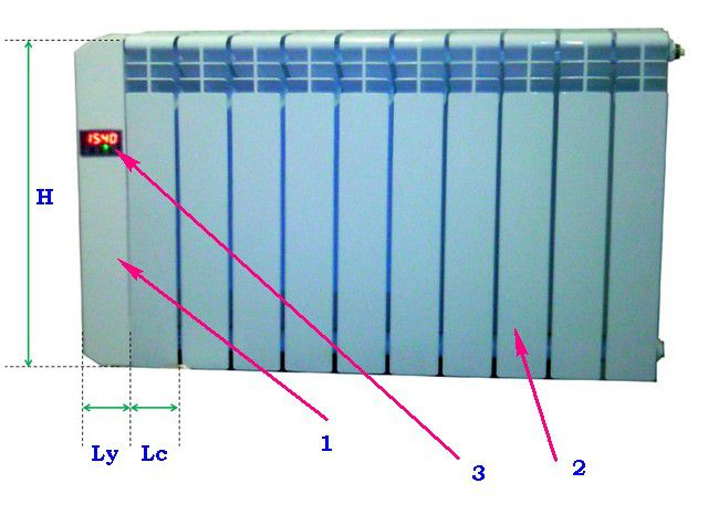 Компоновка электрического модульного радиатора