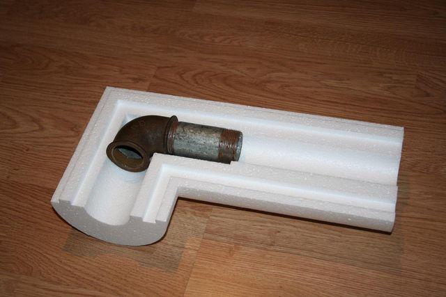 Элемент скорлупы для утепления участка на повороте трубопровода