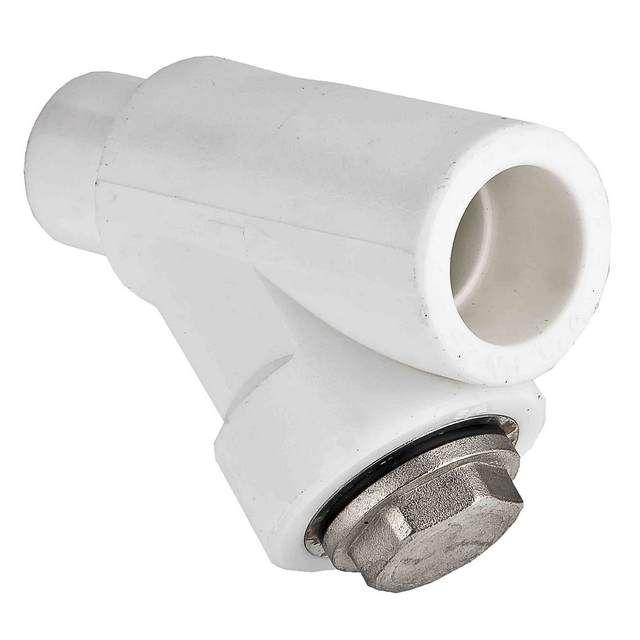 Фильтр-грязевик, специально предназначенный для установки в полипропиленовый трубный контур