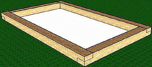 Для легких сезонных теплиц часто достаточно деревянного основания
