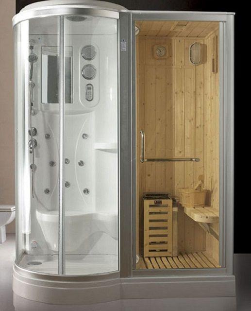 Душевая кабинка с отделением - сауной