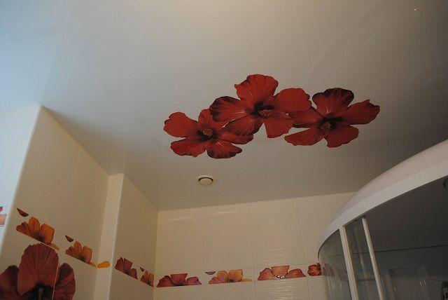 Натяжной потолок с матовой поверхностью