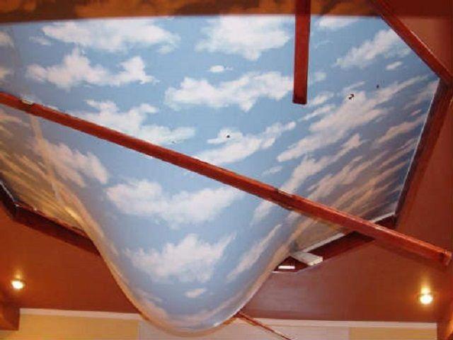 Качественный натяжной потолок способен спасти помещение ванной от потопа сверху