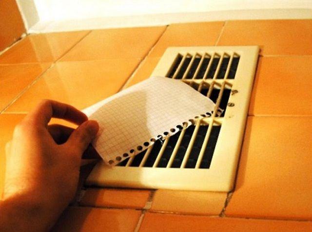 Простейшая проверка эффективности вентиляции