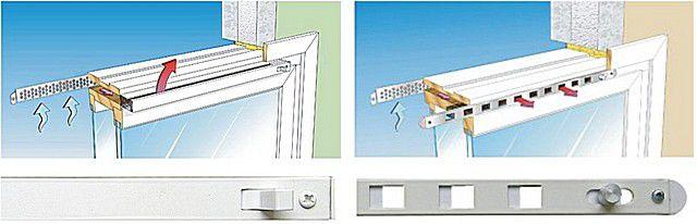 Два основных типа клапанов для микропроветривания