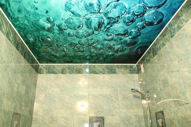 Потолок с объемным 3D-рисунком