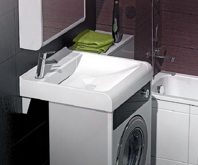 Выпускаются специальные модели малогабаритных стиральных машин именно для использования в комплексе с раковиной