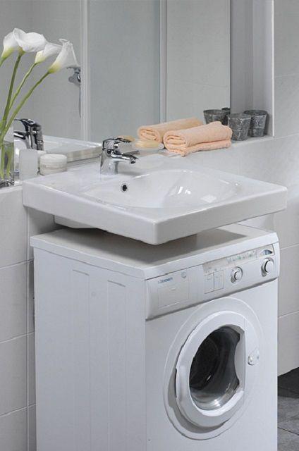 """Раковины, предназначенные для установки над стиральными машинами, обычно называют """"кувшинками"""""""