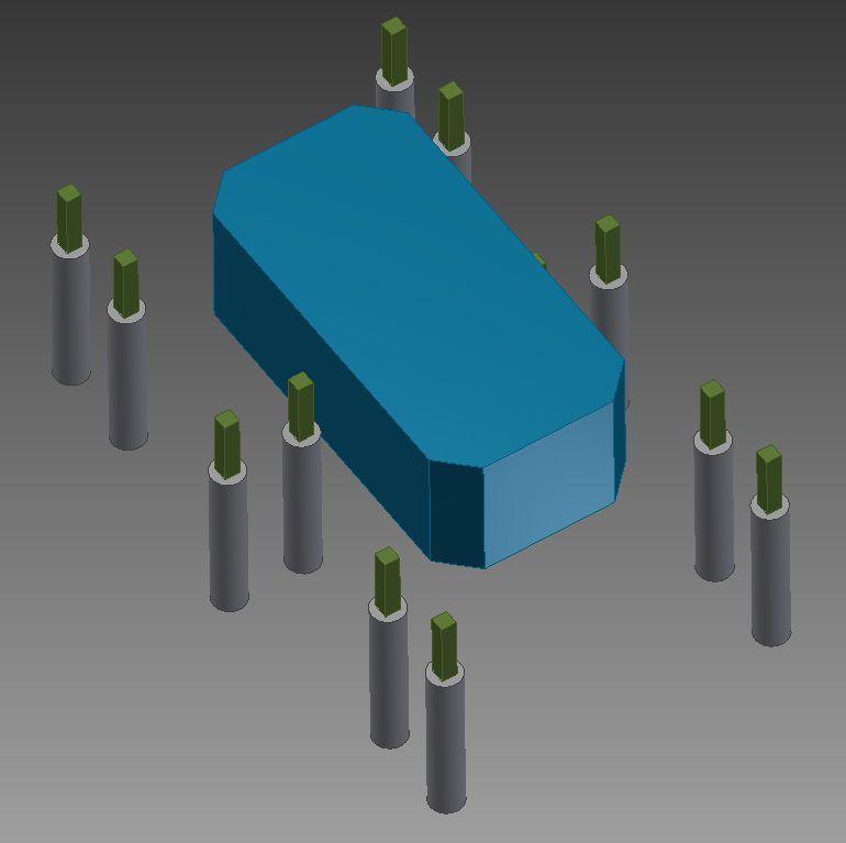 Рисунок 3. Схема бетонных опор