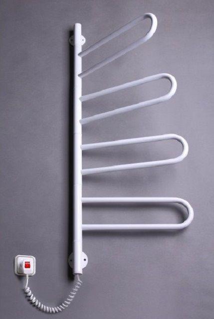 Поворотный полотенцесушитель с электрическим нагревом