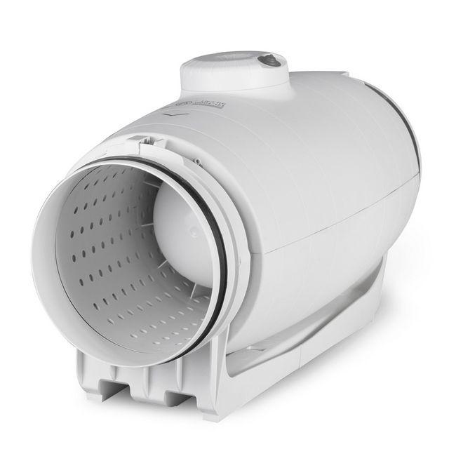 Канальный вентилятор с системой глушения шумов и вибраций