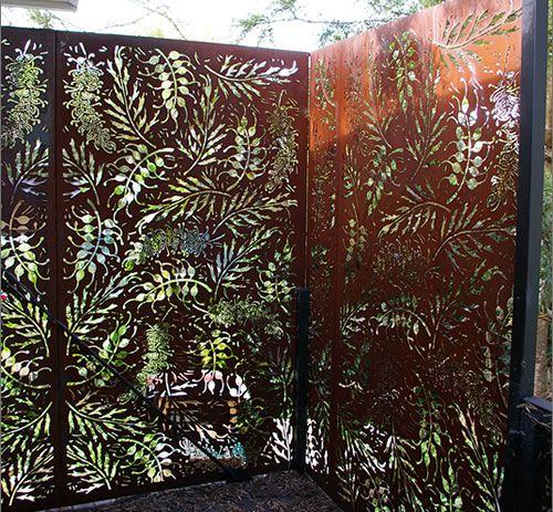 Privacy Screen - фигурные резные деревянные панели