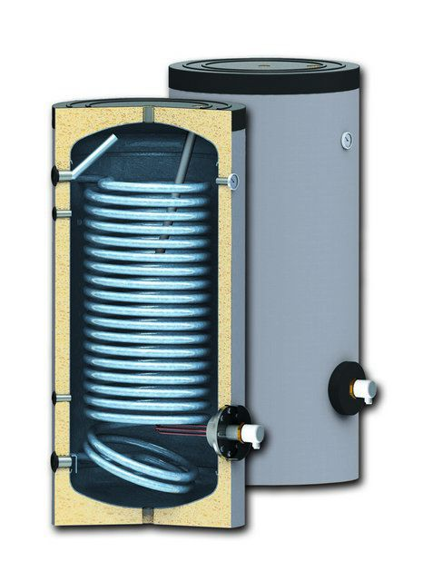 Принципиальное устройство бойлера косвенного нагрева