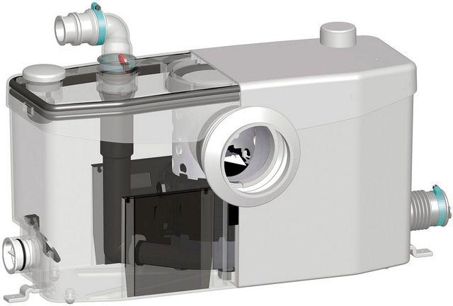 Все узлы насосной установки компактно размещены в небольшом пластиковом корпусе