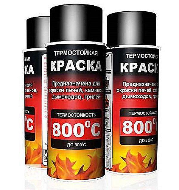 Краска для кирпичных печей термостойкая