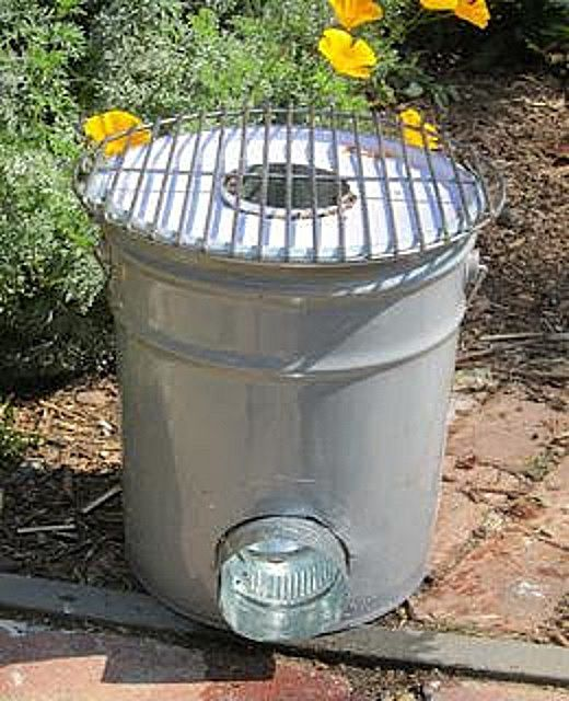 Ракетная печь из металлического ведра