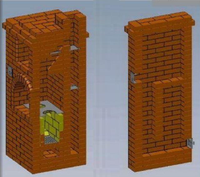 Разрезы печи необходимо изучить для того, чтобы иметь представление о конфигурации каналов и расположении колпаков в данной конструкции