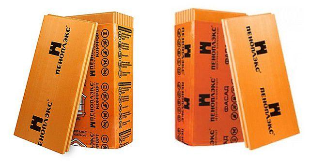 """Два типа плит """"Пеноплэкс"""", оптимально подходящих для утепления стен"""