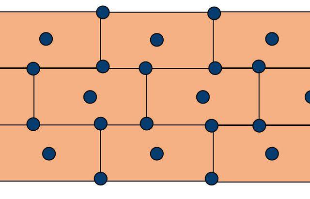 """Примерная схема расположения дюбелей-""""грибков"""""""