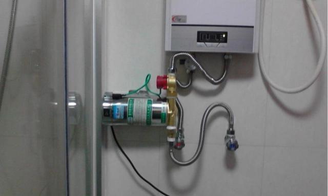 Насос для повышения давления, установленный перед газовым водонагревателем