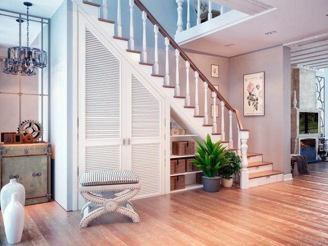 Возможности полезного использования пространства определяются, в первую очередь, типом и размерами лестницы