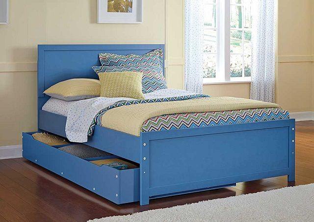 Кровать с выдвижными ящиками - отличное решение для детской комнаты