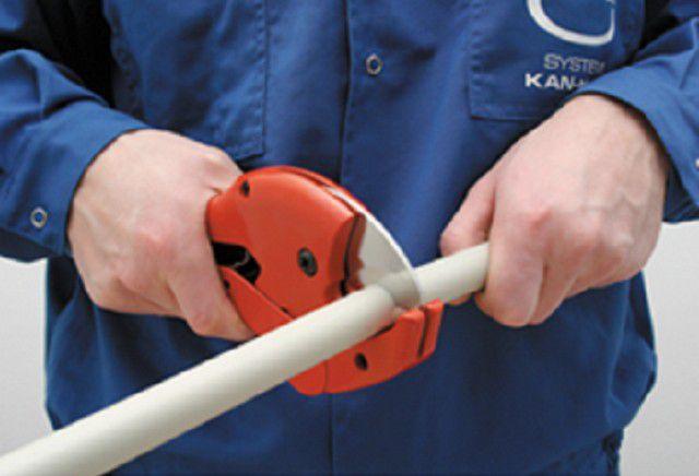 Нарезка труб с помощью специальных ножниц