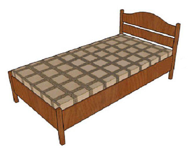 Несложная в изготовлении односпальная деревянная кровать