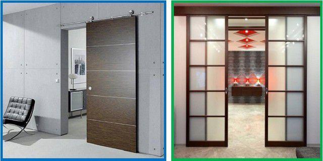 Дверное полотно может быть сплошным. Но можно и облегчить его, изготовив каркасную конструкцию, или вырезав окна и вставив в них стеклянные вставки или фанерные филенки