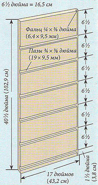 Чертеж №3 - Боковая стенка комода.