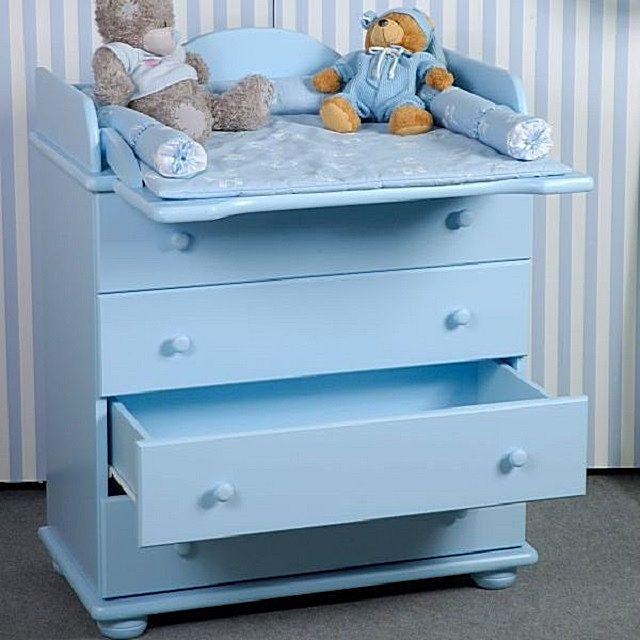 Комод для детской комнаты с откидным столиком для пеленания ребенка