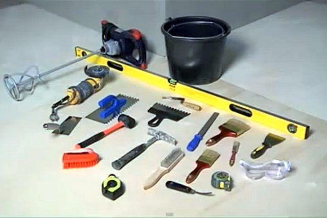 Стандартный набор инструментов для облицовочных работ