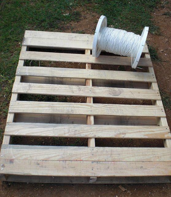 Нехитрый набор материалов для изготовления подвесного кресла