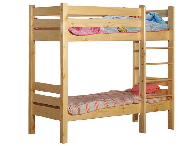 Одна из самых простых конструкций двухъярусной кровати