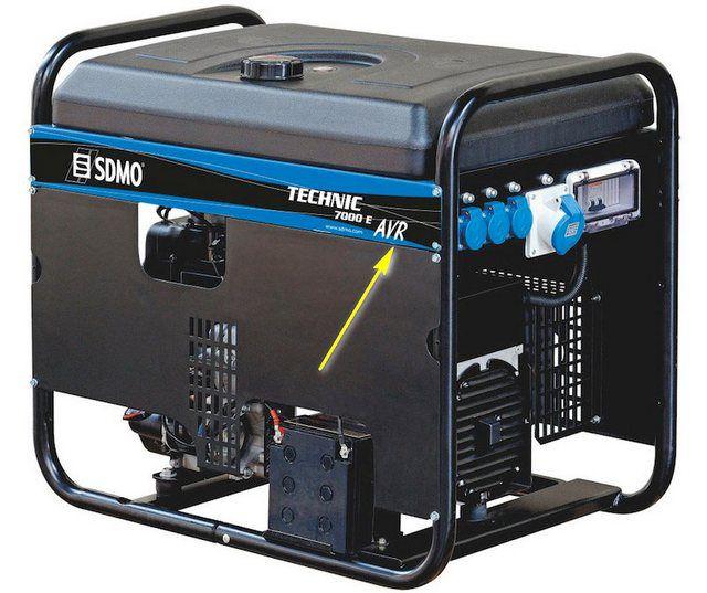 Желательно приобретать генератор с блоком стабилизации напряжения - AVR