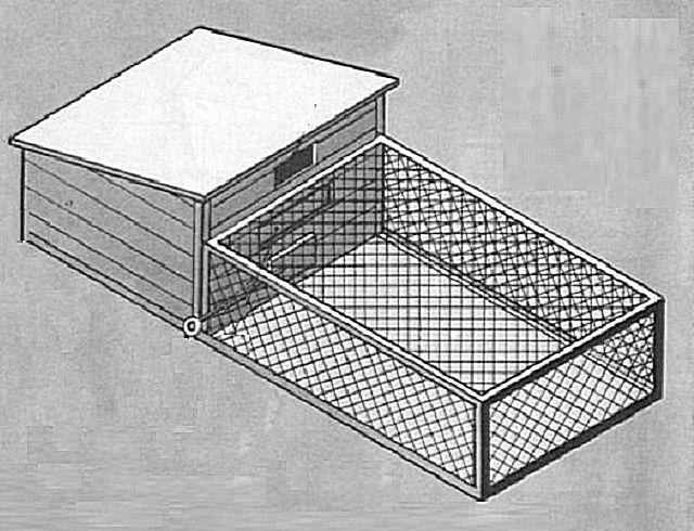 К свинарнику можно пристроить площадку для выгула животных