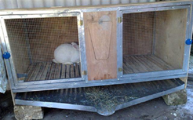Фото как сделать клетку для кролика