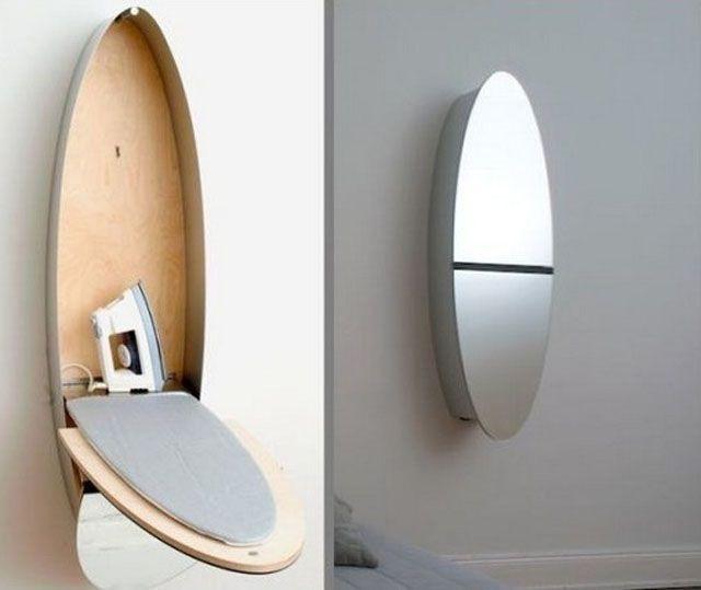 Оригинальный шкафчик трансформируется в гладильную доску