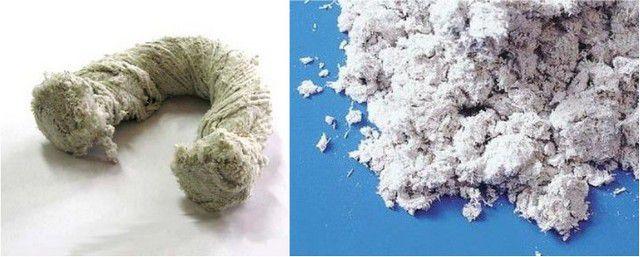 Асбестовые волокна можно получить, растрепав, например, шнур. В продаже можно найти и фасованную асбестовую крошку.